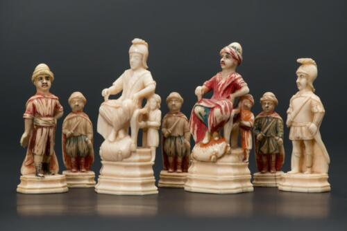 The Byzantines Against the Turks, the Russian chess set