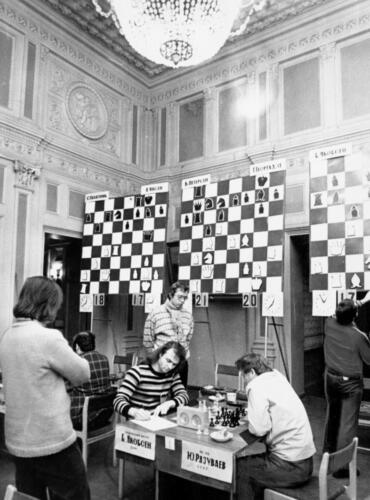 The Great Hall of the Central Chess Club has been often chosen to host prestigious international tournaments and matches