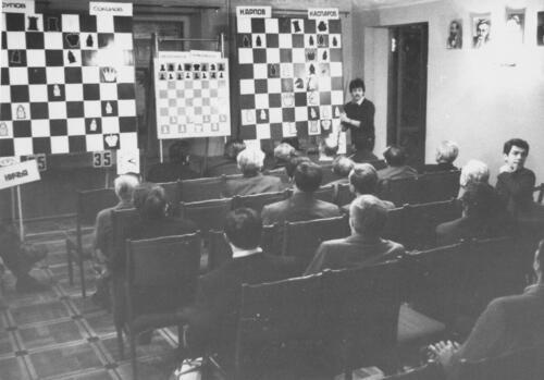 Портретная: С. Яновский комментирует партии матчей на первенство мира. 1986